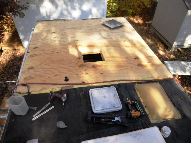 Sunline trailer roof replacement