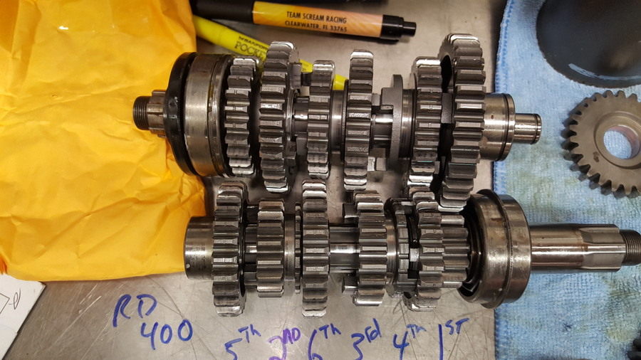 6 speed RD400 close ratio transmission in a 6 speed RD350