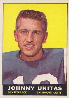 1961 Topps NFL/AFL Football set