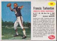 1962 Post Cereal NFL Football set