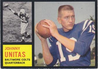 1962 Topps NFL Football set