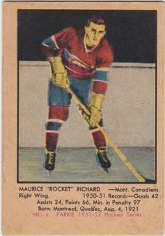 1951-52 Parkhurst NHL Hockey Set