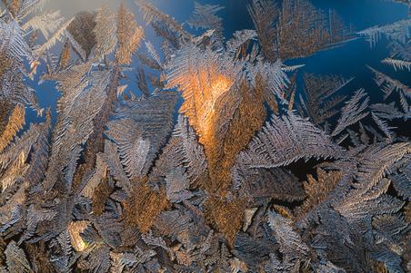 Ice on Window at -30 C