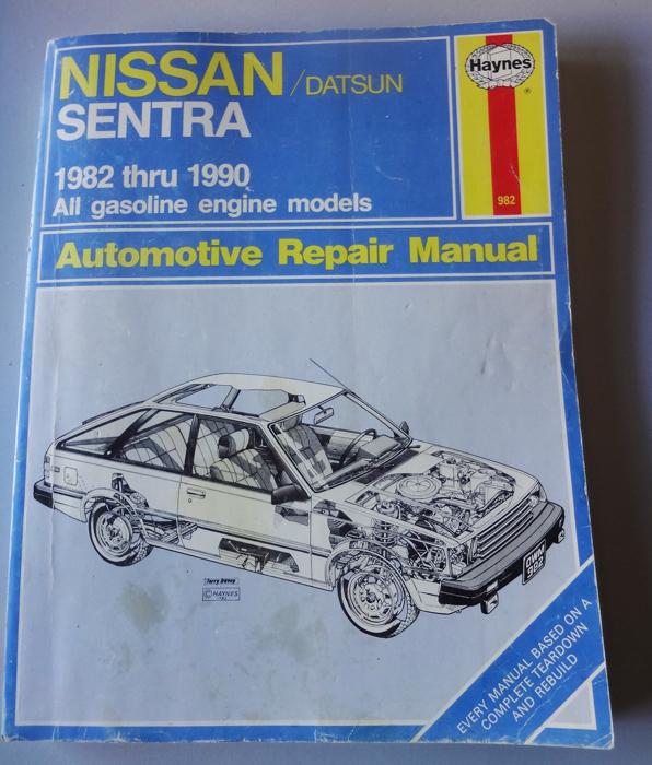 haynes wiring diagram 1982 thru 1990 nissan datsun sentra haynes auto repair manual  1982 thru 1990 nissan datsun sentra