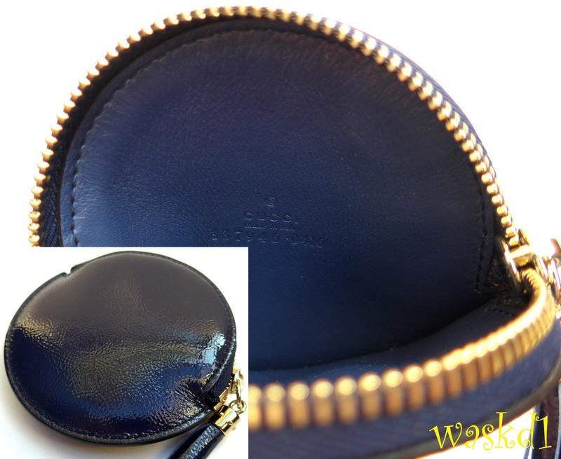 e04ce2784c1652 ... spectacular GUCCI patent midnight blue genuine leather