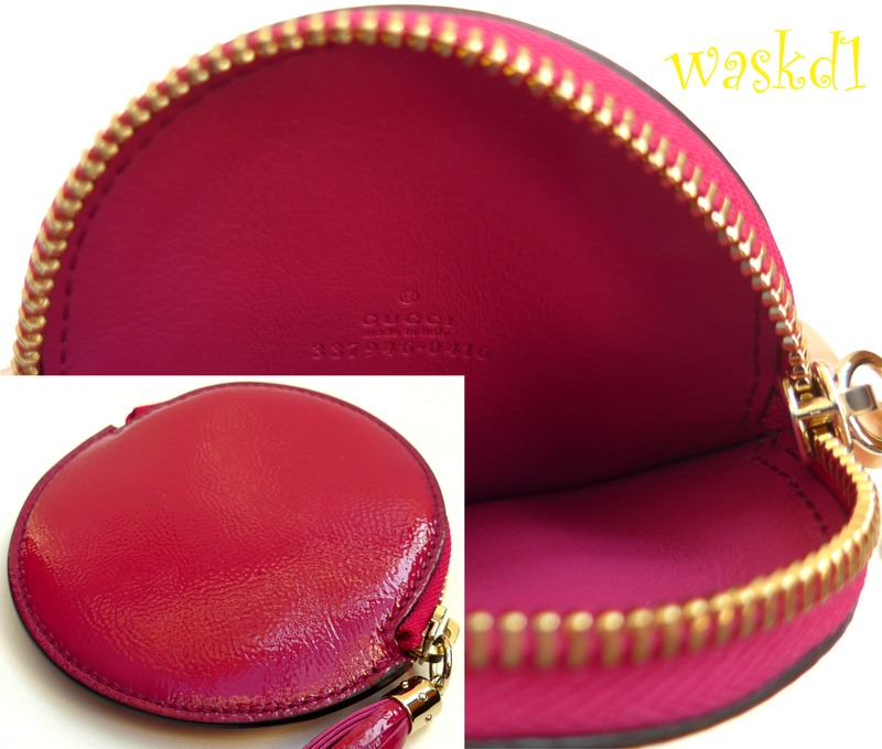 1eb0ae481db159 ... spectacular GUCCI patent vibrant fuchsia-pink genuine leather
