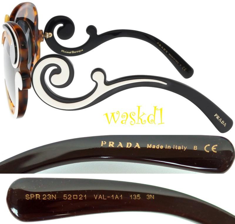 f7288ee7b7c5 100% Authentic PRADA Minimal Baroque havana, black and ivory sunglasses.