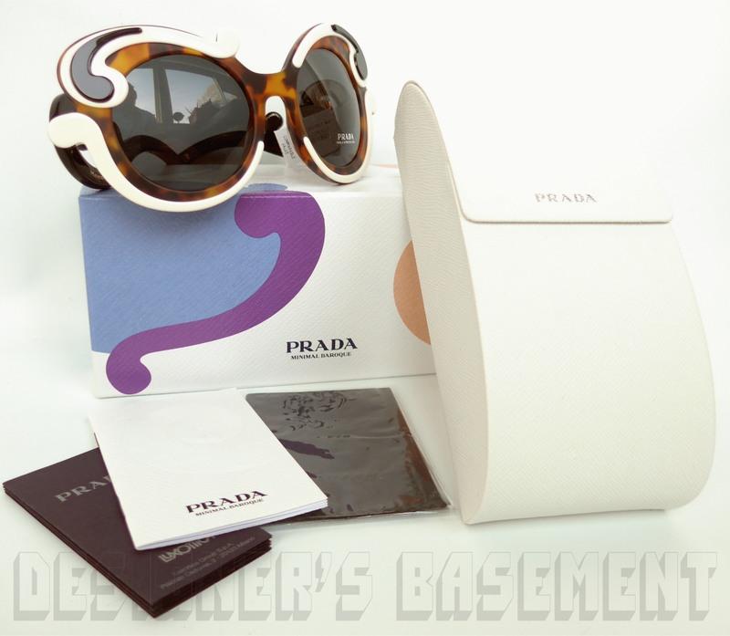 31b8def2a353 PRADA Minimal Baroque SPR 23NS Havana Ivory & Black Sunglasses NIB Authentic  $620!