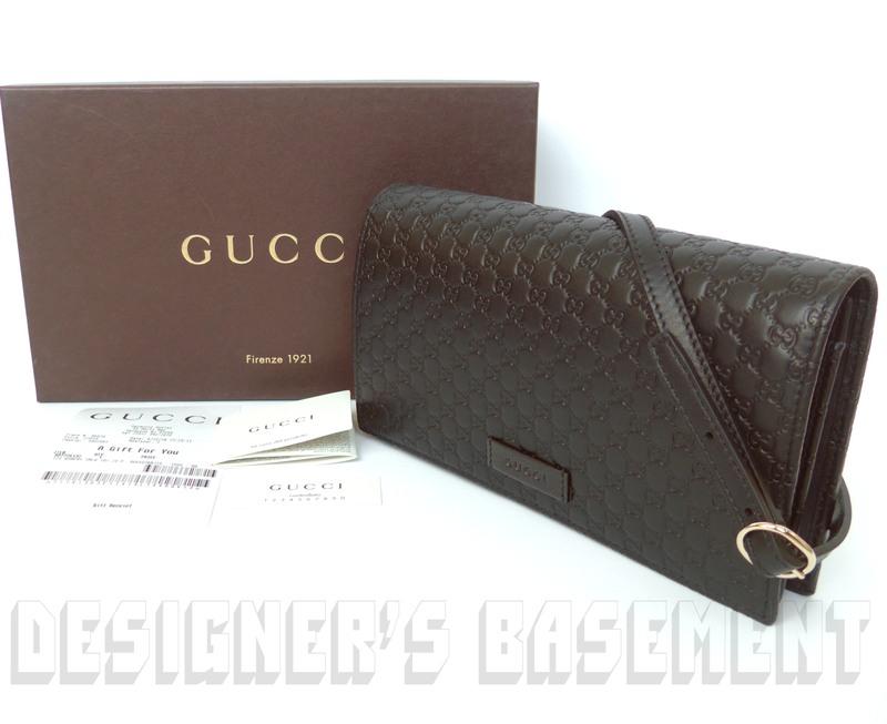 cbb136f5894369 GUCCI black MICRO GUCCISSIMA embossed wallet with strap MINI bag NIB  Authentic!
