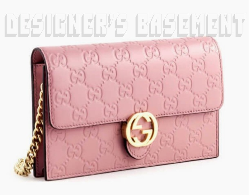 46bd7d93036 GUCCI pink GUCCISSIMA Leather INTERLOCKING G Mini CHAIN bag wallet NWT  Authentic!