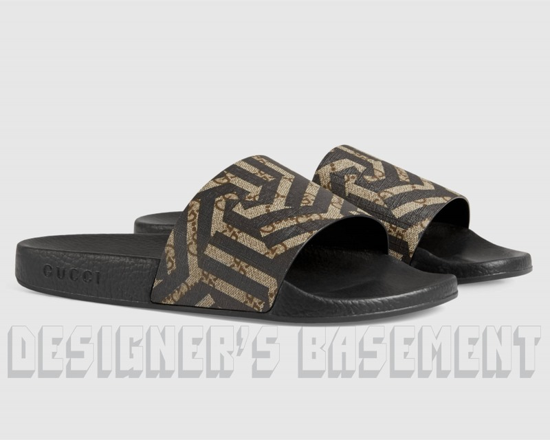 3e862525582 Details about GUCCI mens 7G  CALEIDO GG Supreme PURSUIT slides FLIP-FLOPS  shoes NIB Authentic!