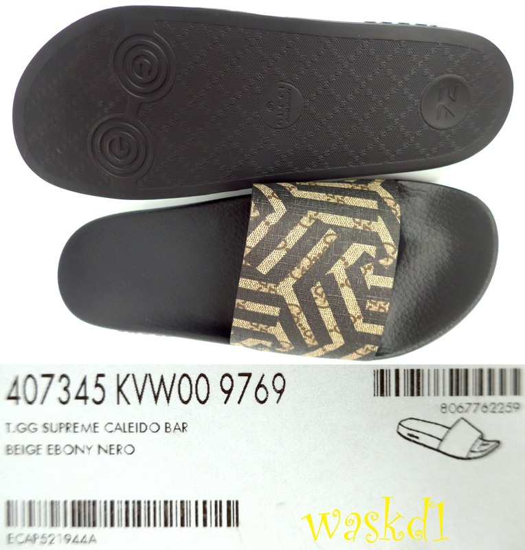 Authentic Gucci Mens Fabulous Caleido Gg Supreme Coated Canvas Pursuit Flip Flop Slides In Size 7g Insole 10 1 2 Long Corresponds To The