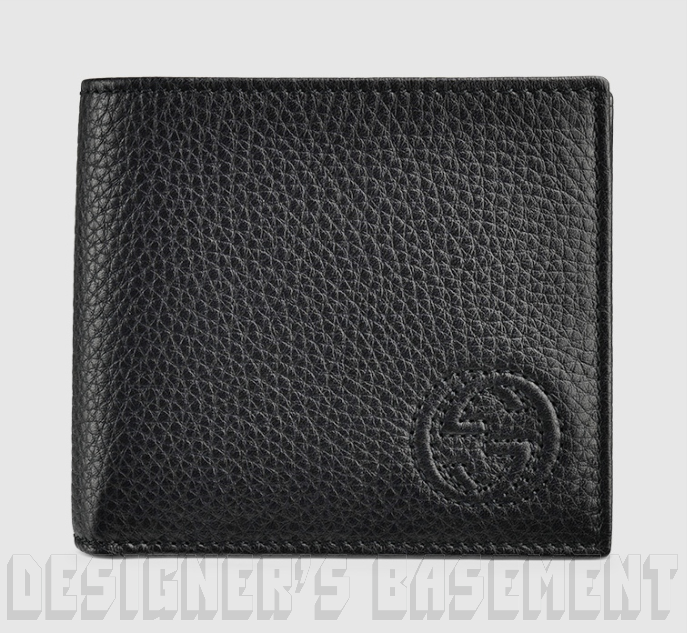 gucci mens wallet. gucci mens black soho pebbled leather interlocking g bifold wallet nib authentic! gucci