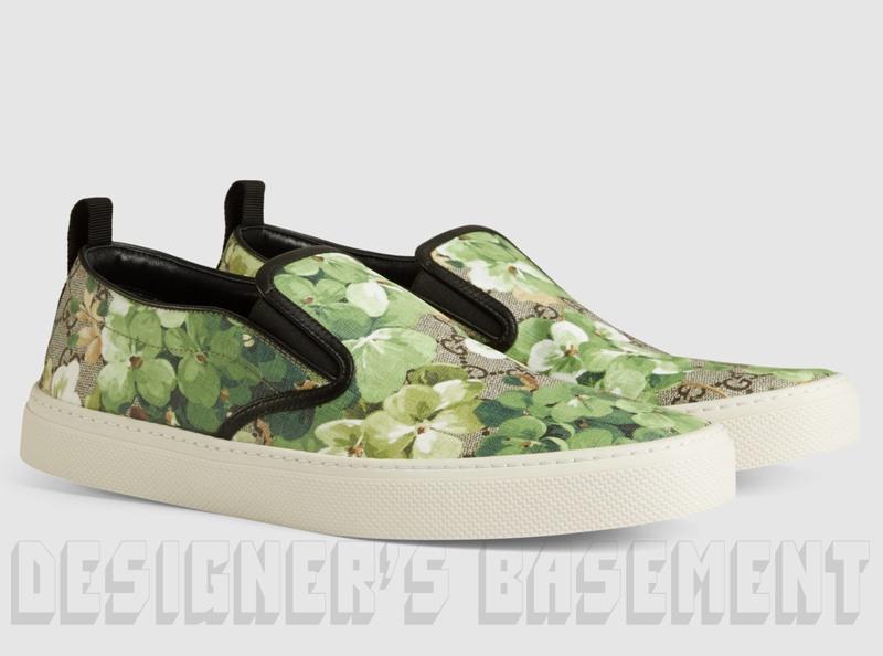 ba8ce48c142 GUCCI men 10G khaki BLOOMS GG Supreme Canvas DUBLIN slip on sneakers NIB  Authentic  550!