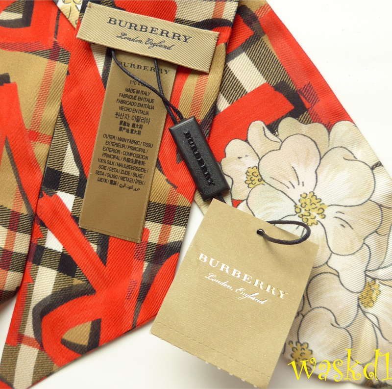 4ab0d455e5f1 100% Authentic and absolutely adorable BURBERRY bright red floral and  graffiti pattern